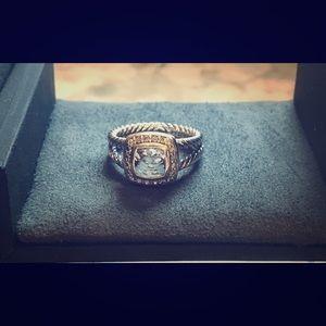 David Yurman Albion Ring White Topaz Diamond
